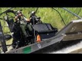 US Border Patrol BP Marine Airboat Operations On The Rio Grande River In Laredo