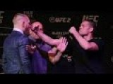 UFC 196: Conor McGregor Vs Nate Diaz Brawl At Staredown
