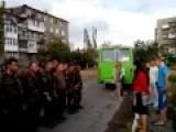 Ukrainian POV In Front Of Donetsk Citizens