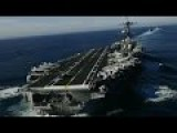 U.S. Navy Super Mighty Aircraft Carrier Strike Group In Action In The Pacific Ocean