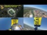 US Navy SEALs - Leap Frogs Jump Into Neyland Stadium Multi-angle View