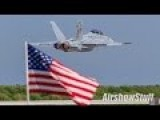US Navy F A-18F Super Hornet - Touch And Go To Low Transition - Cleveland National Airshow 2015