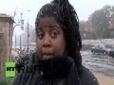 USA: Snow Cannot Cool Ferguson's Anger Over Darren Wilson
