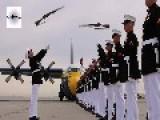 USMC Silent Drill Platoon & Blue Angels C-130 Fat Albert