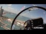 US Navy F A-18F Super Hornet Cockpit Cam - Chicago Air And Water Show