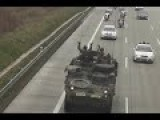 Ukraine War - A US Army Column In The Czech Republic