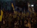 Ukraine, Kharkiv - Peaceful Pro-EU 'protesters' Scream Death To Russians! Heil Ukraine !