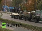 Ukraine: Kiev Military Trucks On The Move In Tense Mariupol