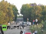 Ukraine: Watch Road-bridge Get Blown Up In MASSIVE Explosion