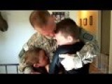 U.S Army Soldier Surprises His Two Boys