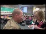 U.S. Soldier Surprises His Daughter By Coming Home From Afghanistan