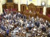 Ukraine MPs Come To Blows While Fighting Rages In East
