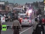 USA: Violence Erupts At Ferguson Rally For Slain Teen Michael Brown