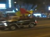 Ukraine Army Mobilises In Kiev With Soviet Flags And St George Ribbons On Tanks