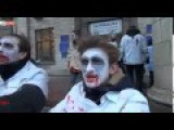 Ukraine. Flashmob. The Return Of The Living Ukrozombie