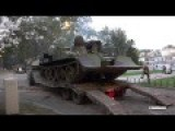 Unloading Russian Serbian Military Engeneering Tank - M-84AI The Polish WZT-3