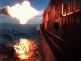 U.S Naval Air Systems Command Test Of A Tomahawk Block IV Guided By A F A-18 Into A Moving Ship Target