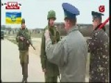 Ukraine Russian Troops Fire Warning Shots