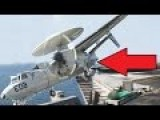 US Aircraft Almost Crashes In To Sea By Falling From Aircraft Carrier As Landing Cable Snaps