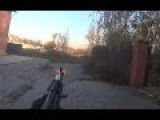 Ukrainian Paramilitary In Heavy Combat Action Helmet Cam Firefight