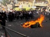 Ultra-Orthodox Jews Clash With Israeli Police In Jerusalem,Central Israel