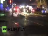 USA: Fierce Clashes Rage In Ferguson On Night #2 Of Curfew
