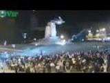 Ukraine Crisis: Protesters Demolished Lenin Statue In Kharkov 28 09 2014 RAW FOOTAGE