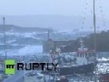 United Kingdom: Hurricane Gonzalo Batters UK Coastline