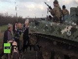 Ukraine Military Forces Firing Warning Shots At Peaceful People