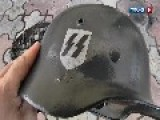 Ukrainian Army Soldiers Using WW2 German Nazi SS Helmets No Audio