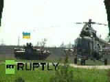 Ukraine: Military Helicopters In Mariupol International Airport