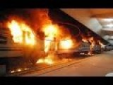 Ukraine Crisis Russia - Railway Station Set On Fire By Militias In Donetsk