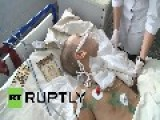 Ukraine: Children Injured In Mine Explosion GRAPHIC