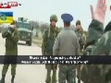 Ukraine:Russian Troops Fire Warning Shots Subtitles