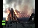 Ukraine: Shelling Turns Donetsk Home Into Blazing Inferno