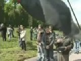 Ukraine, Lviv, May 9, 2011, Victory Day , Dastardly Radicals Scoff Over Elderly Veterans