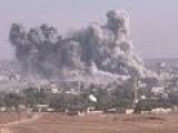 US Airstrikes Hit Syrian Border Town