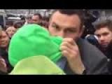 Usual Klitschko. Kiev Mayor Talking With Protesters