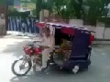 Very Amazing And Funny Pakistani Rikshaw Bike Stunt On Road