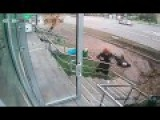 VIDEO Fatal Accident At A Bus Stop In Moscow Fell On Camera 10.02.2016