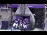 Vikings Trample The Sound Guy Running Out Of Tunnel