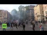 Video: Mass Rally Against Austerity Turns Violent In Rome