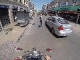 Vehicle Hit & Run Against Motorcycle Caught On Camera
