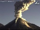 Volcán De Colima Erupts Twice In One Morning