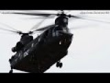 VERY USEFUL CHINOOK CH-47 Helicopter Uses WATER BUCKET To Extinguish Fire - CODE 1079
