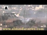 Video Footage Of SAA Operation In Moadamiya Shows 2 Missiles Impacts And Caged Armor Tanks In Action