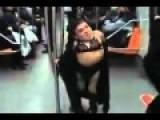 Very Pretty Lady Dancing In Train