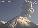 Volcán De Colima Shoots Out Plumes Of Smoke