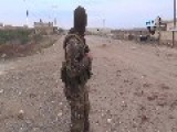 Video Of ISIS Fighter South Of Kobani Claiming Aleppo Road Has Not Been Cut By YPG As They Claimed