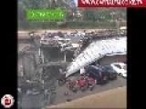 View Of Smoking Crater In Parking Garage At Westgate Mall, Nairobi